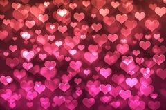 Υπόβαθρο καρδιών bokeh Στοκ Εικόνα