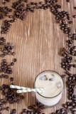 Υπόβαθρο καφέ πάγου Στοκ Εικόνες