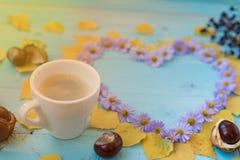 Υπόβαθρο καφέ φθινοπώρου Στοκ Φωτογραφίες