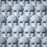 Υπόβαθρο κεφαλιών Cyborg Στοκ φωτογραφία με δικαίωμα ελεύθερης χρήσης