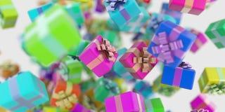 Υπόβαθρο κιβωτίων δώρων Στοκ Εικόνες