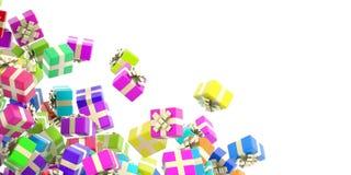 Υπόβαθρο κιβωτίων δώρων Στοκ φωτογραφίες με δικαίωμα ελεύθερης χρήσης