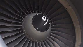 Υπόβαθρο, κινηματογράφηση σε πρώτο πλάνο αστικών αεροσκαφών μηχανών στροβίλων λεπίδων φιλμ μικρού μήκους