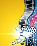 Υπόβαθρο κινηματογράφων ταινιών Στοκ Εικόνα