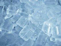 Υπόβαθρο κινηματογραφήσεων σε πρώτο πλάνο κύβων πάγου στοκ εικόνες