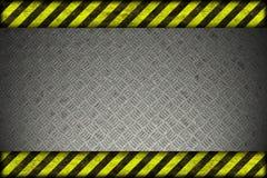 Υπόβαθρο κινδύνου. γραμμές προειδοποίησης, ο Μαύρος και κίτρινος. Στοκ Φωτογραφίες