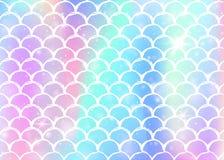Υπόβαθρο κλιμάκων ουράνιων τόξων με το σχέδιο πριγκηπισσών γοργόνων kawaii διανυσματική απεικόνιση