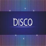 Υπόβαθρο κομμάτων Disco διαστημικό κείμενό σας απεικόνιση αποθεμάτων