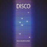 Υπόβαθρο κομμάτων Disco διαστημικό κείμενό σας διανυσματική απεικόνιση