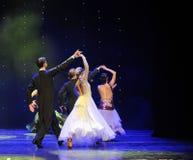 Υπόβαθρο-κομψός ο βαλς-παγκόσμιος χορός της Αυστρίας Στοκ εικόνα με δικαίωμα ελεύθερης χρήσης