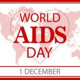 Υπόβαθρο κορδελλών συνειδητοποίησης ενισχύσεων 1 Δεκεμβρίου - παγκόσμια ημέρα επίσης corel σύρετε το διάνυσμα απεικόνισης Στοκ Εικόνα