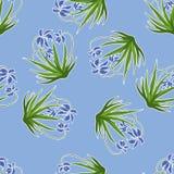 Υπόβαθρο κρητιδογραφιών με τα μπλε snowdrops διάνυσμα Στοκ φωτογραφία με δικαίωμα ελεύθερης χρήσης