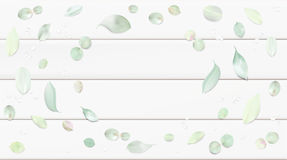 Υπόβαθρο κρητιδογραφιών με τα φύλλα λουλουδιών Στοκ φωτογραφία με δικαίωμα ελεύθερης χρήσης
