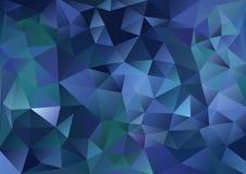 Υπόβαθρο κυβισμού σκούρο μπλε και πράσινο Στοκ φωτογραφίες με δικαίωμα ελεύθερης χρήσης