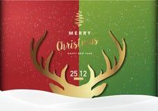 Υπόβαθρο κόμματος Χαρούμενα Χριστούγεννας, διανυσματικό σχέδιο απεικόνισης Ep0 Στοκ φωτογραφία με δικαίωμα ελεύθερης χρήσης