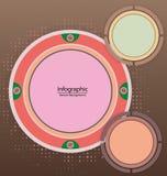 Υπόβαθρο κύκλων Infographic Στοκ εικόνα με δικαίωμα ελεύθερης χρήσης