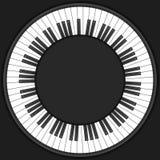 Υπόβαθρο κλειδιών πιάνων κύκλων Στοκ Φωτογραφία