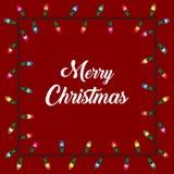 Υπόβαθρο λαμπτήρων Χριστουγέννων Στοκ Εικόνες