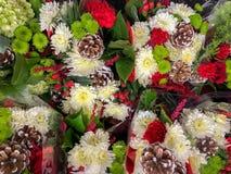 Υπόβαθρο λουλουδιών Χριστουγέννων στοκ φωτογραφίες