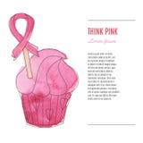 Υπόβαθρο μήνα συνειδητοποίησης καρκίνου του μαστού διανυσματική απεικόνιση
