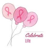 Υπόβαθρο μήνα συνειδητοποίησης καρκίνου του μαστού ελεύθερη απεικόνιση δικαιώματος