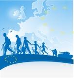 υπόβαθρο μετανάστευσης Στοκ εικόνες με δικαίωμα ελεύθερης χρήσης