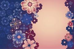 Υπόβαθρο με διακοσμητικό flowers1 Στοκ Εικόνες