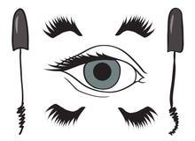 Υπόβαθρο με μαύρο mascara Στοκ εικόνες με δικαίωμα ελεύθερης χρήσης