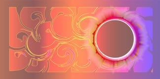 Υπόβαθρο με μια χοάνη των πολύχρωμων σημείων διανυσματική απεικόνιση