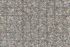 Υπόβαθρο με πολλή σύσταση πετρών αμμοχάλικου χαλικιών Στοκ Φωτογραφίες