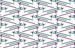 Υπόβαθρο με τα αεροπλάνα διανυσματική απεικόνιση