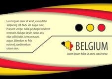 Υπόβαθρο με τα βελγικά χρώματα και ελεύθερου χώρου για το κείμενό σας απεικόνιση αποθεμάτων
