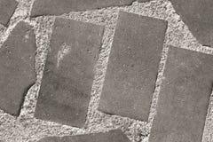 Υπόβαθρο με τα γκρίζα τούβλα πετρών Στοκ Φωτογραφίες