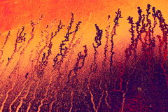 Υπόβαθρο με τα θερμά χρώματα με τις σύνθετες μορφές Στοκ Εικόνες