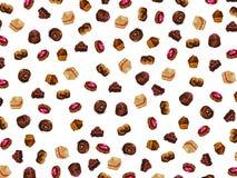 Υπόβαθρο με τα κέικ σοκολάτας διανυσματική απεικόνιση