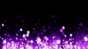 Υπόβαθρο με τα λαμπρά ροδανιλίνης μόρια Όμορφο ελαφρύ υπόβαθρο bokeh Ροδανιλίνης κομφετί που λαμπυρίζει, μαγικό φως σπινθηρίσματο φιλμ μικρού μήκους