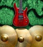 Υπόβαθρο με τα μουσικά όργανα Στοκ εικόνα με δικαίωμα ελεύθερης χρήσης