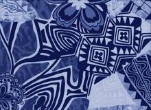 Υπόβαθρο με τα λουλούδια και τις αφηρημένες γεωμετρικές μορφές Στοκ Εικόνες