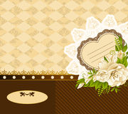 Υπόβαθρο με τα λουλούδια και τις διακοσμήσεις Στοκ εικόνες με δικαίωμα ελεύθερης χρήσης