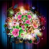 Υπόβαθρο με τα λουλούδια Στοκ εικόνες με δικαίωμα ελεύθερης χρήσης