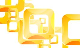 Υπόβαθρο με τα πορτοκαλιά τετράγωνα πλαισίων απεικόνιση αποθεμάτων