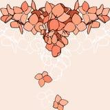Υπόβαθρο με τα πορτοκαλιά λουλούδια Στοκ Εικόνες