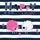 Υπόβαθρο με τα πρόβατα ζευγών Στοκ Εικόνες