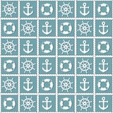 Υπόβαθρο με τα σύμβολα σκαφών Στοκ Εικόνα