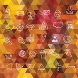 Υπόβαθρο με τα τρίγωνα. Εικονίδια Ιστού Στοκ φωτογραφία με δικαίωμα ελεύθερης χρήσης