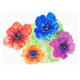 Υπόβαθρο με τα φωτεινά χρώματα watercolor απεικόνιση Στοκ φωτογραφία με δικαίωμα ελεύθερης χρήσης