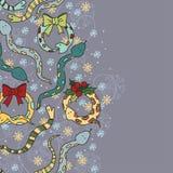 Υπόβαθρο με τα χαριτωμένα φίδια Στοκ Εικόνα