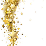 Υπόβαθρο με τα χρυσά αστέρια Στοκ φωτογραφία με δικαίωμα ελεύθερης χρήσης