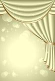 Υπόβαθρο με την ελαφριά ελιά drapes Στοκ Εικόνες