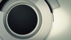 Υπόβαθρο με την κινηματογράφηση σε πρώτο πλάνο της κίνησης των κύκλων φακών, βρόχος απεικόνιση αποθεμάτων
